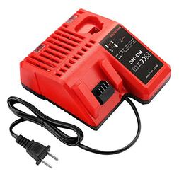 Powilling M12 & M18 Rapid Replacement Charger Milwaukee 12V&