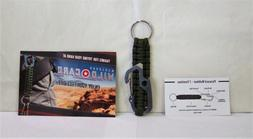 Marlboro Green Paracord 7 Function Multi-tool with Key Ring