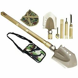 ROSE KULI Military Folding Shovel Multitool - Compact Backpa