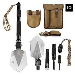 FiveJoy Military Folding Shovel Multitool  - Compact, Ultral
