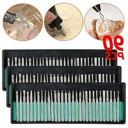 90 Pcs Diamond Burr Bits Drill Set Rotary Multi Tool Accesso