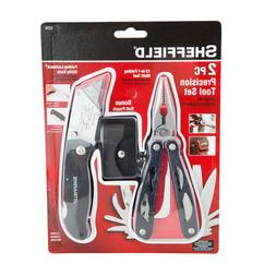 Sheffield 2-piece Multi Tool and Lockback Knife Set 1276