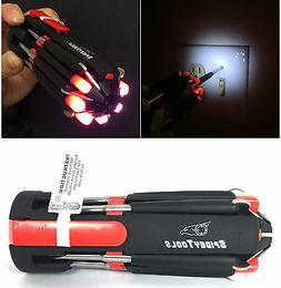 Spidey Multi Tools 8 in1 Soft Touch Screwdriver w/ LED light