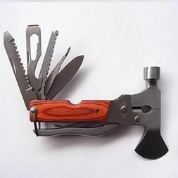 Multi Tool Hammer Saw Axe Knife Wire Cutter Pliers Wrench Sc