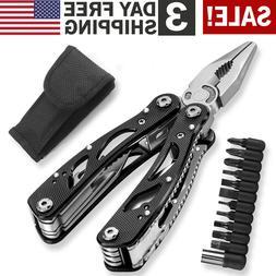 Multi Tool Knife Pliers Saw Kit Pocket Folding Multitools wi