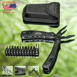 Jeep Multi-Tool Knife Pliers Saw Kit Survival Fold Screwdriv