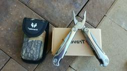 Multi tool Traveler Gray Handle with case and locking tools.