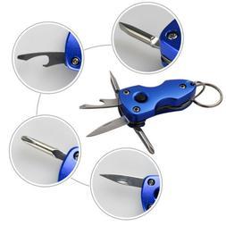 Multi Tools LED Light Screwdriver Bottle Opener Knife w/ Key