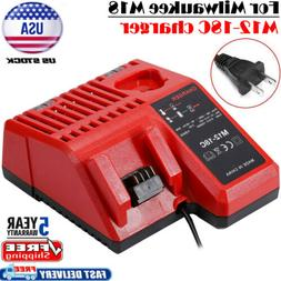 Multi-Voltage M12-18C Charger for Milwaukee M12 M14 M18 12V
