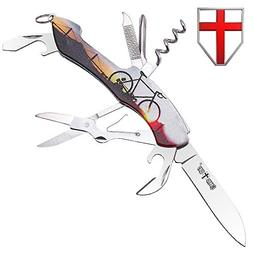 Multi Function Swiss Army Knife - Compact Multipurpose EDC F
