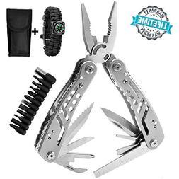 Multitool 24-in-1 Pocket Multi Tool Plier Knife Kit Heavy Du