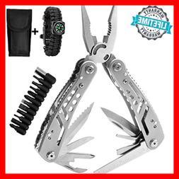 Multitool 24 In 1 Pocket Multi Tool Plier Knife Kit Heavy Du
