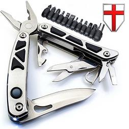 Multitool with Knife, Pliers and 2 Flashlights - Utility Bla