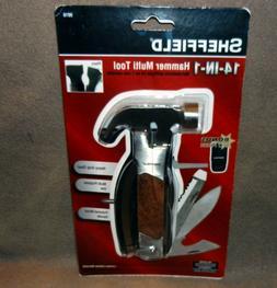 New Sheffield 14-in-1 Multi Tool: Hammer Pliers Blade Knife