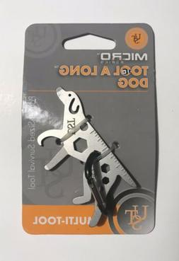 NEW Keychain Tool A Long Multi Tool Dog Five Tools Stainless