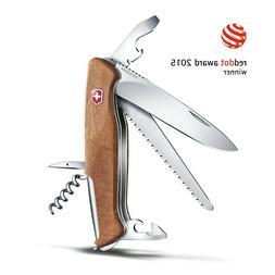 NEW VICTORINOX SWISS ARMY KNIFE RANGER WOOD 55 WALNUT 130 MM