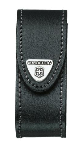 New Swiss Army Leather Knife Belt Pouch, Black, Victorinox N