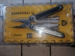 ~NEW~ Leatherman Wave Plus Multi-Tool, Stainless w/ Nylon Sh