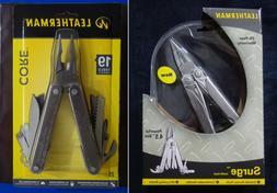 LEATHERMAN Original SURGE & CORE Multi Tools w Nylon Sheaths