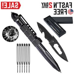 Outdoor Tactical Pen Self Defense Survival Emergency Weapons