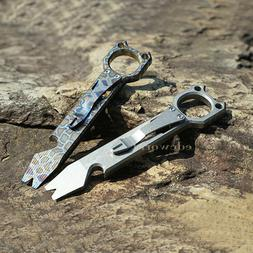 Outdoor Titanium TC4 Multi Pocket Tools Crowbar Self-defense