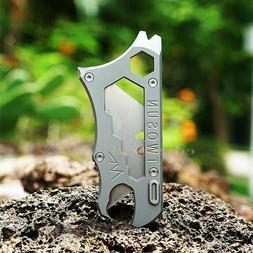 Outdoor Titanium TC4 Multi Tools Opener Crowbar Utility Knif