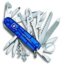 Personalized SwissChamp Sapphire Blue Swiss Army Knife by Vi