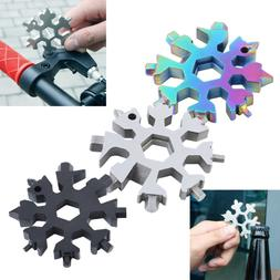 Portable 18 In 1 Combination Stainless Multi-tool Snowflake