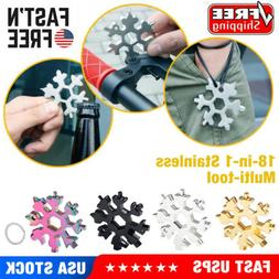 Portable Snowflake Multi Tool  Stainless Tool Screwdriver Ke
