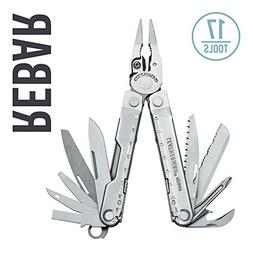 LEATHERMAN - Rebar Multitool, Stainless Steel with Leather S