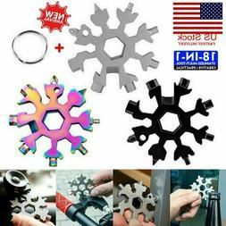 Saker® 18 In 1 Stainless Steel Snowflake Tool Multi Tool Po