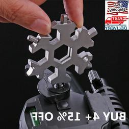 Saker 18-in-1 stainless steel snowflakes multi-tool