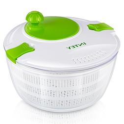 INTEY Plastic Salad Spinner, Lettuce Spinner Cleaner with 3L
