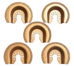 XXGO 5 Pcs Semicircle Carbide Oscillating Multi Tool Blades