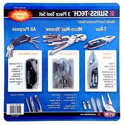 Swiss Tech 3 Piece Tool Set All Purpose, T-rex & Micro Max