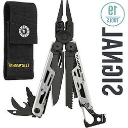 Leatherman Silver and Black Signal Multi-Tool with Premium N
