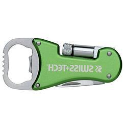 Swiss+Tech ST60319 Green 3-in-1 Bottle Opener Multitool with