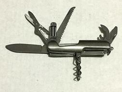 Stainless Multi-Tool Pocket Knife With LED Light  NEW