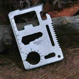 Stainless Steel Credit Card Tool  11 in 1 Multi Pocket Survi