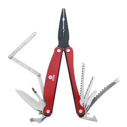 Mustad Stainless Steel Multi-Tool with Sheath, Red, 7.5-Inch