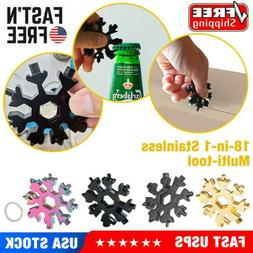 Stainless Tool Snowflake Shape Key Chain Screwdriver 18 In 1