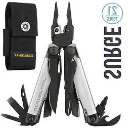 LEATHERMAN Surge MultiTool, Limited Edition Black/Silver w 4