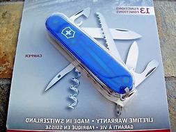 Victorinox Swiss Army Camper Pocket Knife, Sapphire