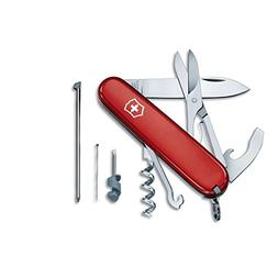 Victorinox Swiss Army Compact Pocket Knife, Red