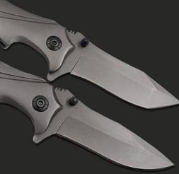 Outdoor Camping Hunting Survival Knife Skinnig Folding Steel