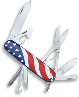 Victorinox Swiss Army Super Tinker Pocket Knife, American Fl
