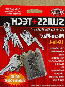 Swiss+Tech MMCSSS Micro-Max 19-in-1 Keychain Multitool quali