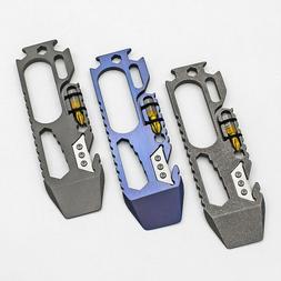 Titanium Alloy EDC Portable Multi-Tools Opener Pry Bar Crowb