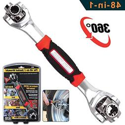 Universal wrench 48 Tools In One Socket, Works with Spline B