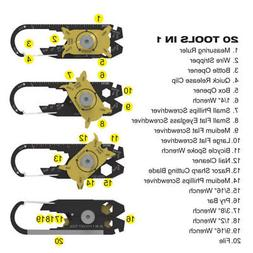 US Useful 20 in 1 Pocket Multi Tools Keychain Emergency Outd